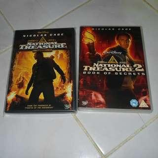 national treasure 1 and 2 dvd