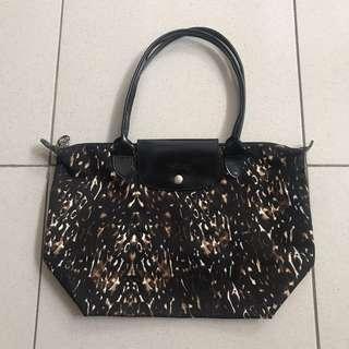 original Longchamp cheetah print bag