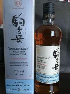 日本威士忌 Mars Komagatake Sherry & American White Oak 2011 Natural Cask Strength