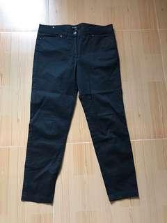 Mango suit black trousers L