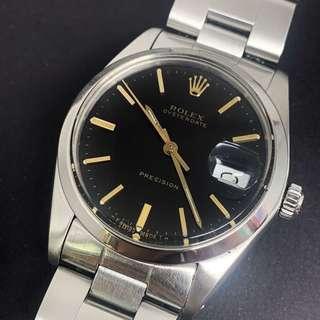 Vintage Rolex 6694 precision black dial winding watch
