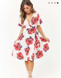 Forever 21 contemporary flower wrap dress