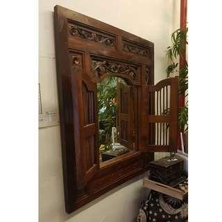 Batavia Crafted wooden frame  wall mirror