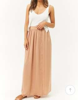 Forever 21 Contemporary satin maxi skirt