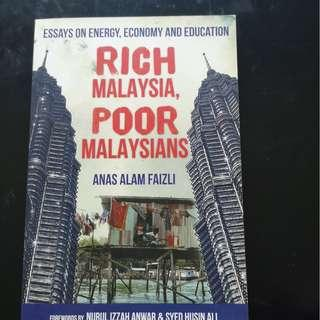 (FREE) Rich Malaysia, Poor Malaysian Book by Anas Alam Faizli