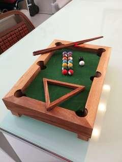 *HANDMADE* Wooden Mini-Pool Table Souvenir