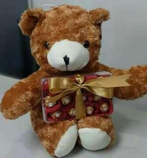 Bear with chocolates (ferrero)