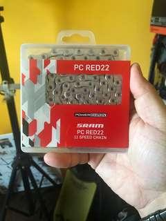 SRAM RED PC22 11 speed chain. BNIB