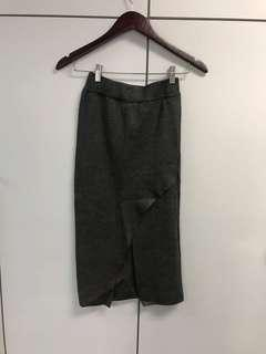 Dark grey tight skirt 深灰開叉包臀半裙