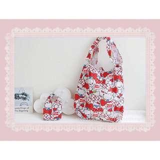 🚚 Hello Kitty環保購物袋(可摺疊)