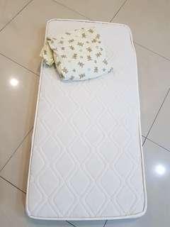 Crib Mattress (Natural Coconut Fiber) with FREE Crib BedSheet #MHB75