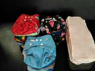 Alva Baby Cloth Diapers with Inserts Bundle