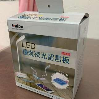🚚 【二手】LED檯燈夜光留言板