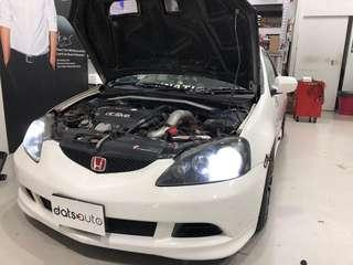 Simple yet useful upgrade on this wonderful Honda Integra!  LED headlight bulb to replace busted Halogen or HID setups  Have yours done now!  #led #datsauto #quality