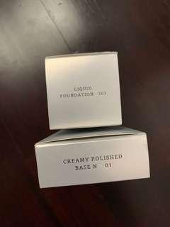 RMK liquid foundation 101 and creamy polished base n 01