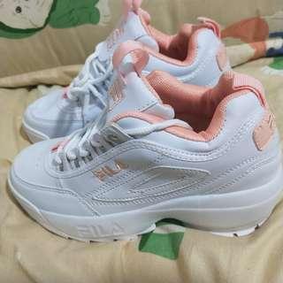 FILA 鋸齒鞋 disruptor 2 老爹鞋 破壞者 火鳥粉 粉色限定版