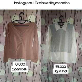 Turun harga preloved blouse kemeja