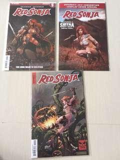 Dynamite Comics Red Sonja Comic Set