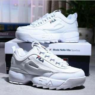 FILA 鋸齒鞋 diaruptor 2 經典白