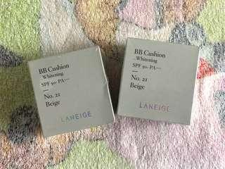 LANEIGE BB cushion Whitening SPF 50+ PA+++ No.21 Beige