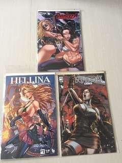 Boundless Comics Set (Pandora Shogun Mary #0, Hellina Ravening #1, Belladonna #1)