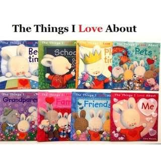 🚚 Bundle Book Set | Trace Moroney  | When I am feeling + The things i Love about (Total 16 books + 2 Audio CD)