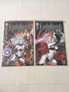 Coffin Comics Lady Death Unholy Run #1 & #2 (Complete)