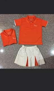 Looking for free my first skool orange uniform size 22 & 24