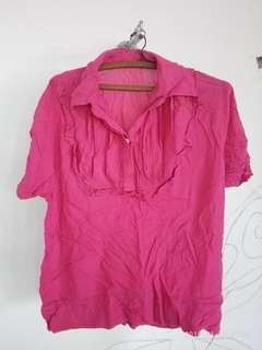 Blouse kerja pink
