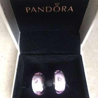 New AUTHENTIC Pandora Heart Murano PINK Charms 791632PCZ (only ONE left)