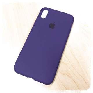 深紫色 iPhone XS Max 矽膠保護殼 (送玻璃貼)iPhone XS Max Dark Purple Case