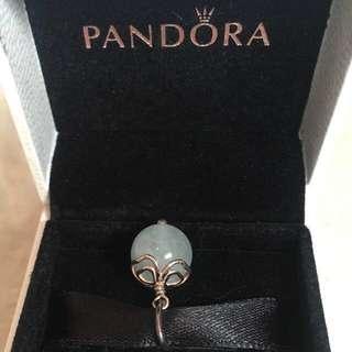 New AUTHENTIC Pandora Aquamarine Silver BLUE Pendant 390161AQ