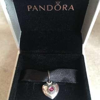 New AUTHENTIC Pandora Rhodolite Sliver RED Pendant 390324RHL