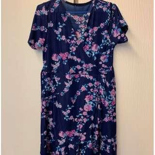 kimono dress with attached safety shorts