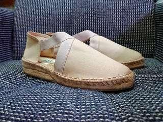 🚚 西班牙手工麻編織/天然材質 夏日便鞋 (卡其米色 )