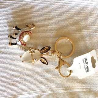 Jeweled animal key ring