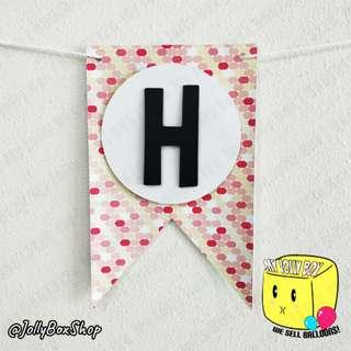 Pill Shape Patterns Bunting Banner #PartyDeco #BirthdaySupplies #BirthdayDeco