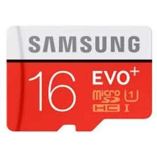 🚚 Samsung Evo+ 16GB Micro SD Card