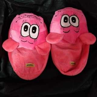 Pink bedroom slippers bearhuggs to