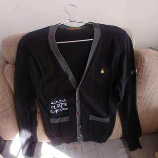 Sugarman 黑色100%Cotton長袖冷衫款