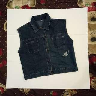 Crop vest Crop jacket Denim jacket