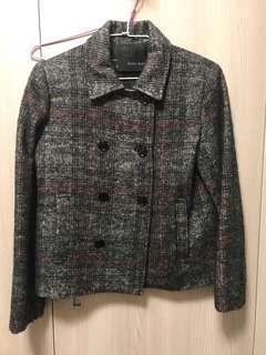 🚚 Zara毛料雙排扣外套