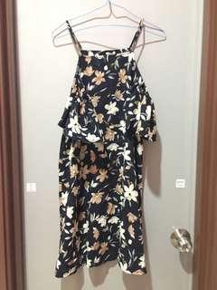 New floral drop shoulder dress