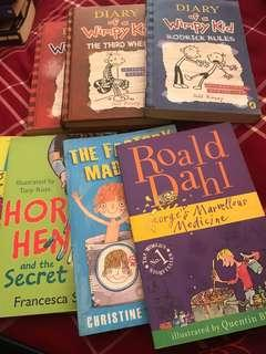 Diary of a Wimpy Kid, Roald Dahl, Hardy Boys