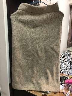 米色毛呢裙