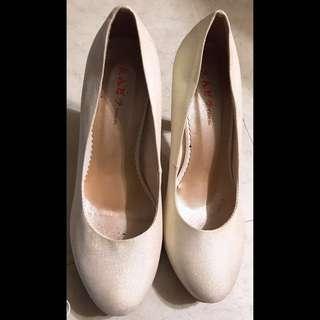 🚚 尖頭亮粉高跟鞋 婚禮鞋 晚宴鞋