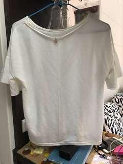 🚚 白色短袖上衣
