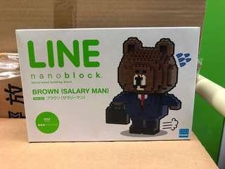Line 熊大 nano block