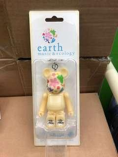 earth C Be@rbrick bearbrick 電筒 燈光 匙扣