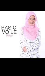 (Freepos)Pizzascarf Basic Voile Rose